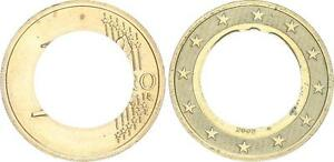 Lack Coinage Only On Outer Ring Embossed 2002 D Germany Prfr
