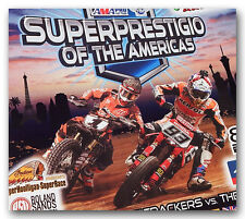 SUPERPRESTIGIO MOTORCYCLE FLAT DIRT SHORT TRACK PROGRAM JARED MEES FRANC SERRA &