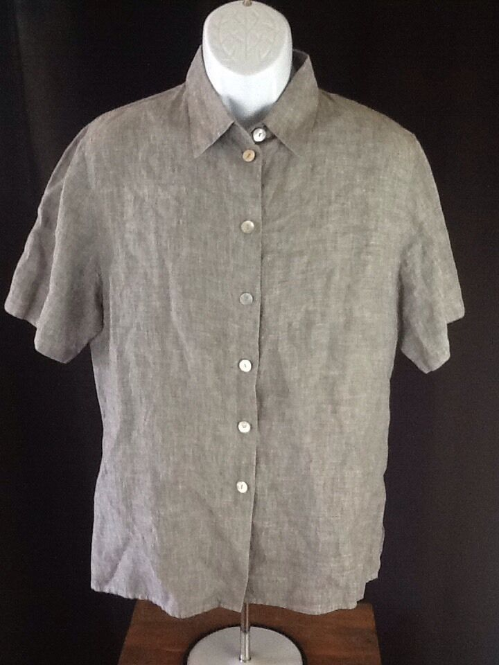 J&W Mens 100% Linen Shell Buttons Button Up Shirt Collection Amazing