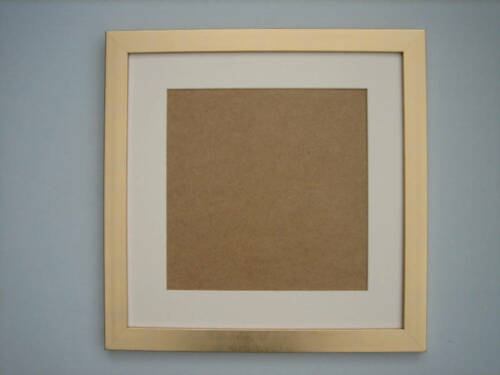 Gold 16x16 Square Picture Photo Frame Mount 11.5x11.5 Hang