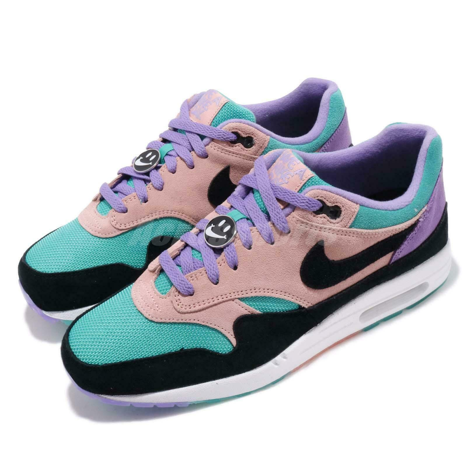 Nike Air Max 1 ND Have A Nike Day Purple Black Coral Running Shoes BQ8929 500
