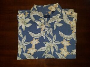 Izod-Large-L-Multi-Color-Floral-Hawaiian-Short-Sleeve-Button-Up-Mens-Shirt
