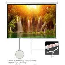 100 Inch 43 Manual Pull Down Projector Projection Screen Home Theater Movie
