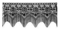 Heritage Lace Halloween Gala 4-Way Lampshade Topper Mantle Scarf. Valance Swag Home Furnishings