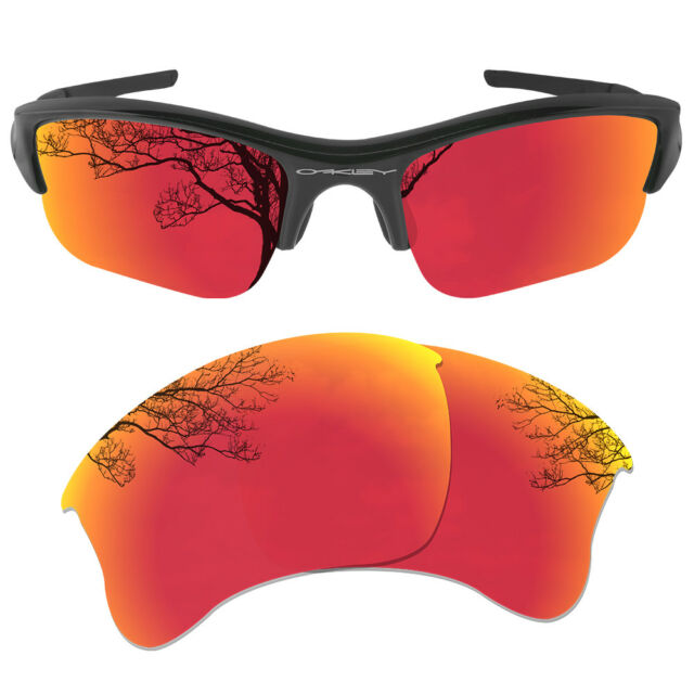 63544b4690 DYNAMIX Polarized Fire-red Replacement Lenses for Oakley Flak Jacket ...