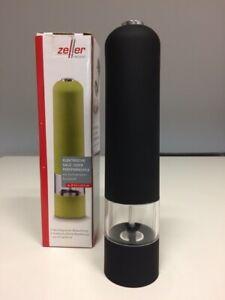 Zeller Salz Pfeffermuhle Mit Licht Elektrisch Schwarz Kunstoff Ebay
