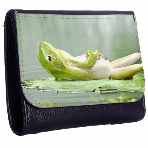 After Dinner Frog Tri-Fold Wallet w// Button Pocket