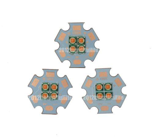 2pcs 10-12W Full Spectrum 380-840nm 4-chips High Power Led on 20mm Copper PCB