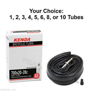 Kenda-700-x-20-23-25-28C-33mm-Threaded-Presta-Valve-Road-Bike-Tube-RVC-Pack