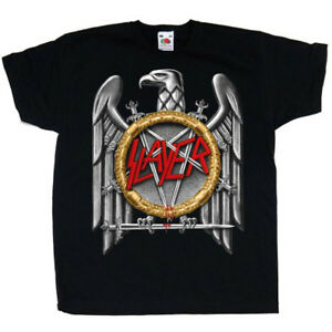 Slayer-Silver-Eagle-Thrash-Metal-Rock-Official-Tee-T-Shirt-Mens-Unisex