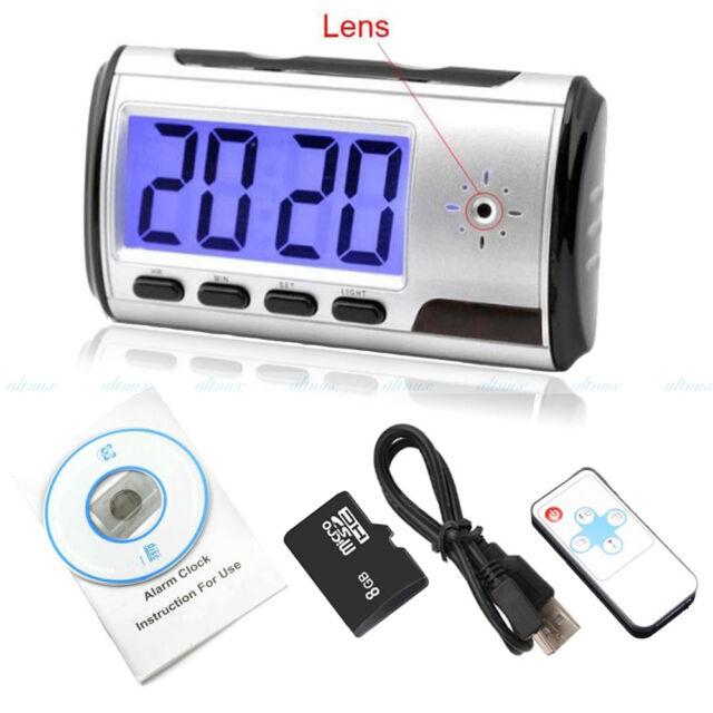 8GB Digital Alarm Clock Spy Hidden Camera DVR USB Motion Alarm Video Recorder