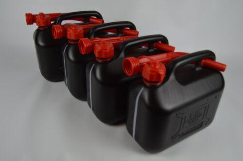4x flessibile ausgiessern 4x BENZINA//DIESEL 5l TANICA in plastica incl