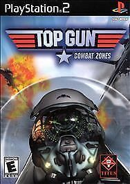 Top-Gun-Combat-Zones-Sony-PlayStation-2-2001-COMPLETE-GAME-W-CASE-amp-MANUAL