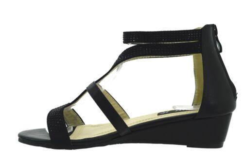 2 di 12 Sandali aperti Gladiatore Donna eleganti sexy scarpe basse estive  con strass 1d9c2af40db