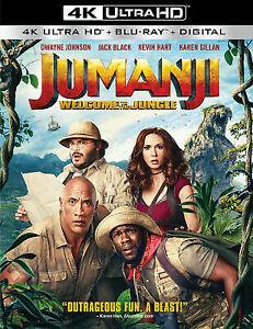Jumanji-Welcome-To-the-Jungle-4K-Ultra-HD-Blu-ray-2017-2-Disc-Set-USED