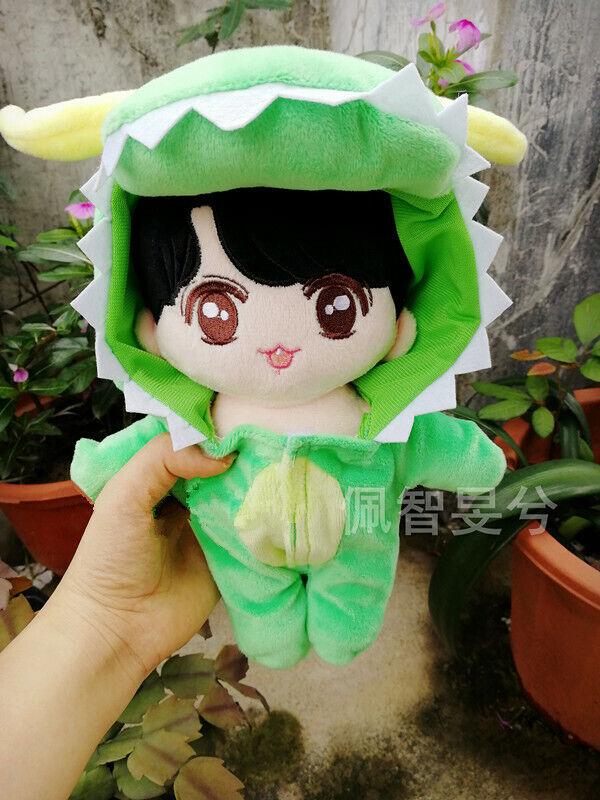 Hand-made Jimin Taehyung Kim Seok Jin Shark Dinosaur Doll Clothes Stuffed Gift N