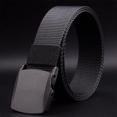 Fashion Men's Outdoor Sports Military Tactical Nylon Waistband Canvas Web Belt