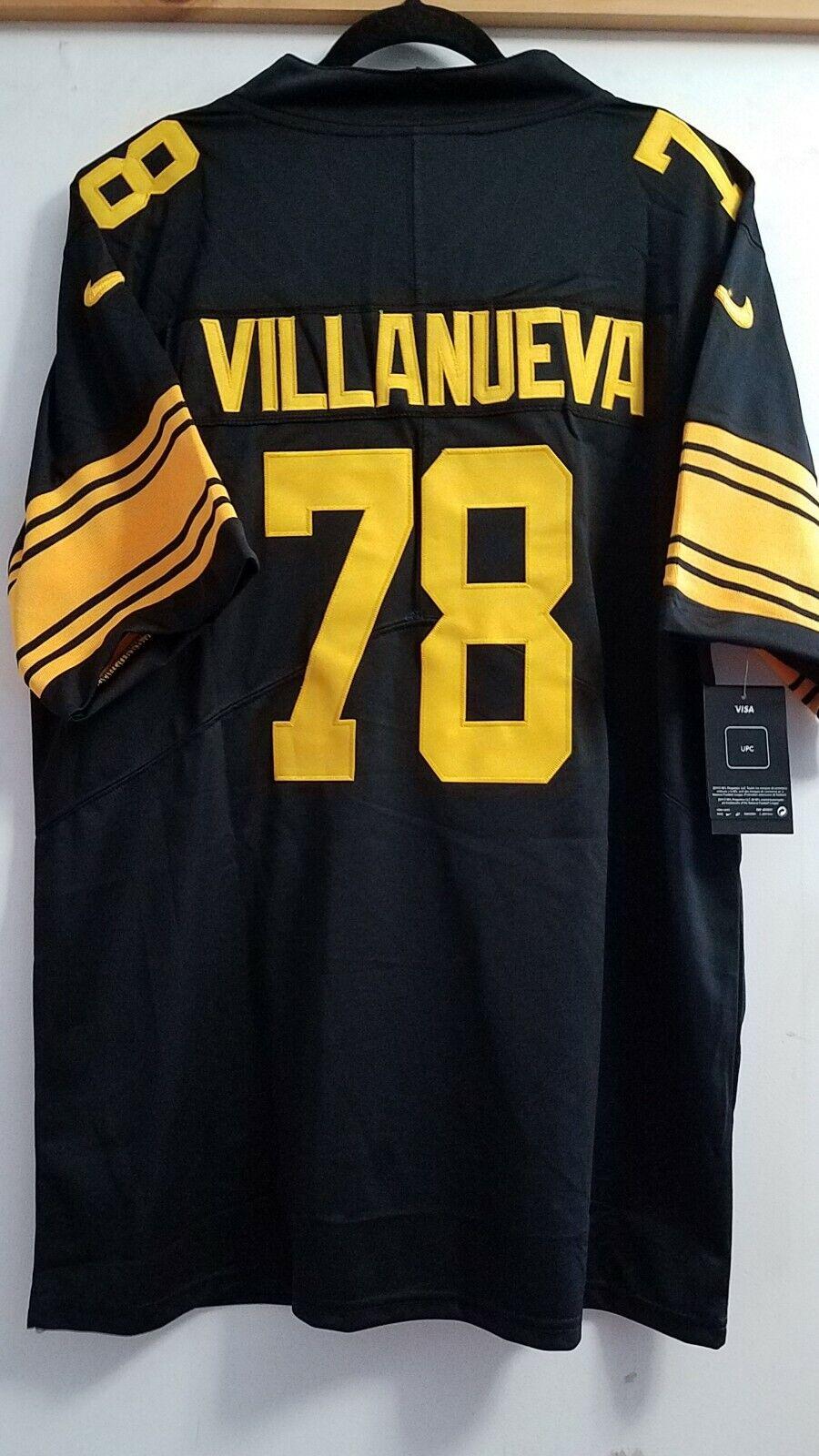 new products 3db66 61727 ALEJANDRO VILLANUEVA Pittsburgh Steelers #78 jersey RUSH ...