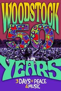WOODSTOCK-50-YEARS-POSTER-24x36-Concert-Music-Tie-Dye-Art-Fair