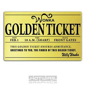 photograph relating to Wonka Golden Ticket Printable called Info pertaining to Published Plastic Card, Willy Wonka GOLDEN TICKET Individualized Worldwide E-book Working day.