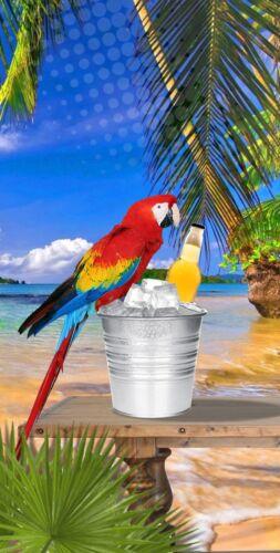 Tropical Parrot Beer Cornhole Wrap Printed 3M Vinyl Corn Toss Baggo Wrap Set