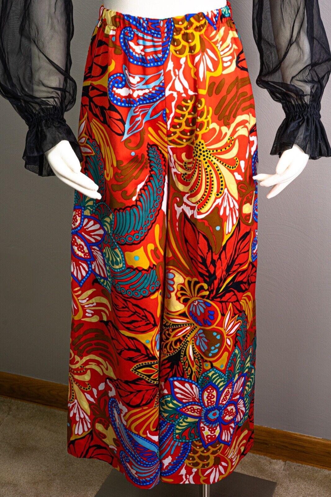 70s Sheer Peasant Crop Top Pants Sets, wide leg p… - image 7