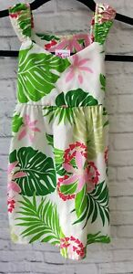 In Latest Collection Of Rjc Made In Hawaii Sun Dress Toddler Girls 4 Hibiscus Flower Lei Pink Red Novel Design;