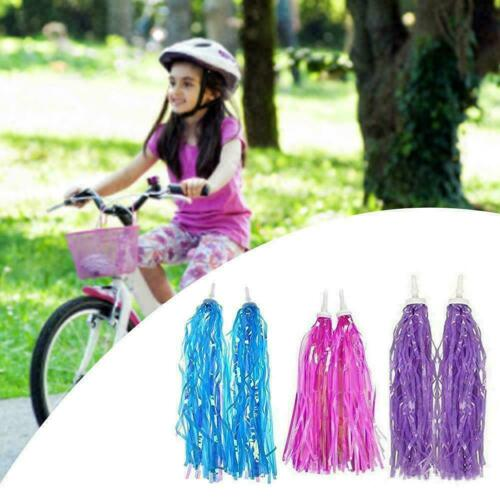 Riband Decor V9K8 Kid Bicycle Ribbon Bike Scooter Streamers Sparkle Tassel U6Y9