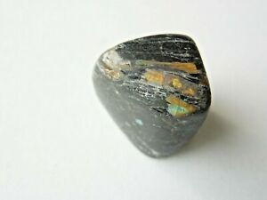 16x15x12mm-RARE-GENUINE-NATURAL-TUMBLED-NUUMMITE-7-36g-GREENLAND-Orgone-127