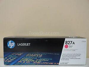 Genuine Hp Cf303a 827a Magenta Toner Cartridge Laser Jet Flow Mfp M880 Ebay
