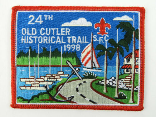 1998 Boy Scout 24th Old Cutler Historical trail embroidered patch B.S.A.