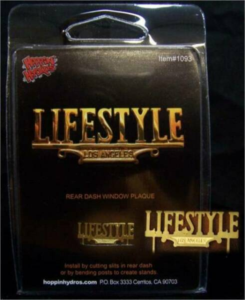 Hoppin Hydros Lifestyle Los Angeles Rear Window Plaque