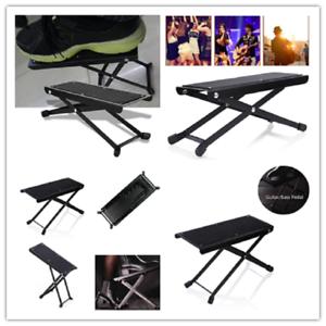 Folding Guitar Foot Rest Ankle Accessories Metal Footrest Adjustable Foot Pedal