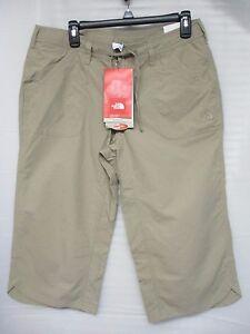 THE-NORTH-FACE-Horizon-II-Women-039-s-Capri-Dune-Beige-Outdoor-Hiking-Pants-8-10-NEW