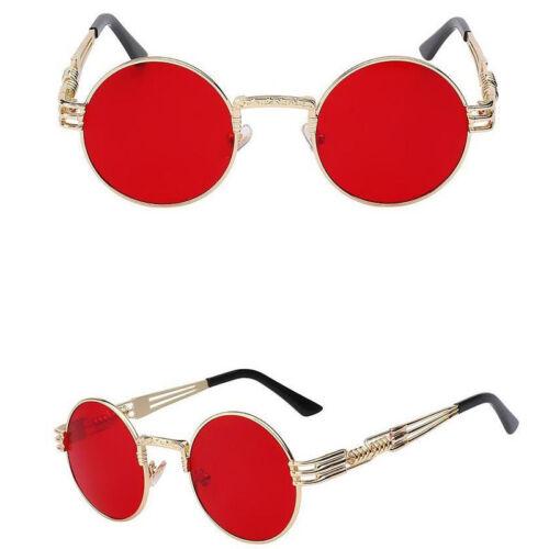 Vintage Retro Steampunk Sunglasses John Lennon Gothic Hippie Round Sun Glasses
