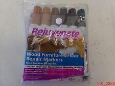 6 Pk Rejuvenate Wood Furniture & Floor Repair 6 Color