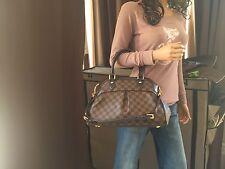 Authentic Louis Vuitton Damier Ebene Trevi PM Shoulder Handbag