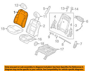 Genuine Ford Seat Back Cover FG1Z-5464417-PB