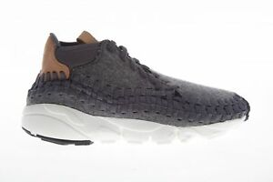 43d16e70d6e0 Nike Air Footscape Woven Chukka SE Mens 857874-002 Dark Grey Tan ...