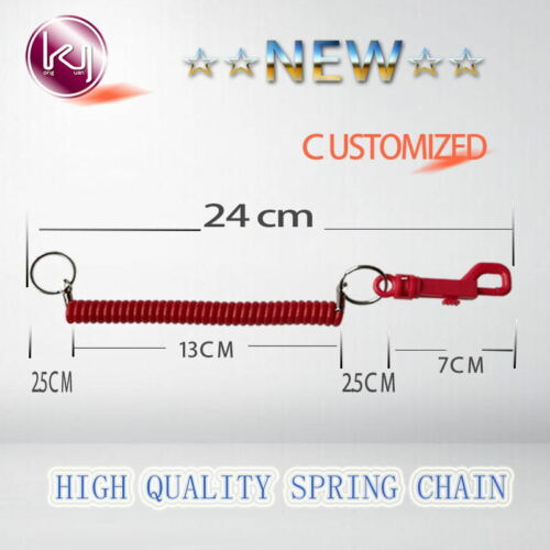 2pcs  Bungee Coil Cords Elastic Casino ID Card Holder Leash//KeyChain Belt Clip