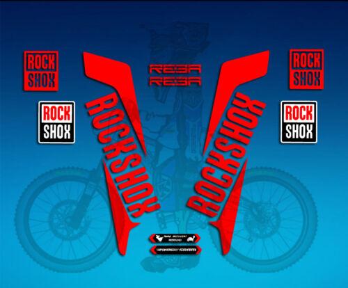 Sticker Fork Stickers Fork RockShox Reba 2016 AM33 Decal Sticker