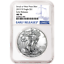 $1 American Silver Eagle NGC MS70 Blue ER Label 2019 W