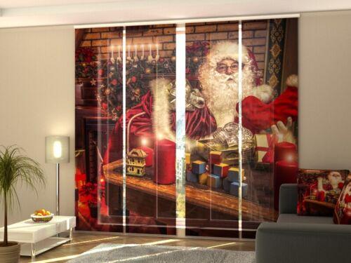 Schiebegardine Fotogardine Weihnachtsmann Schiebevorhang mit Foto auf Maß