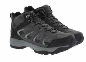 e430eee9594 Details about New Khombu Men's Tyler Hiking Boots Waterproof Black Gray  Leather Upr Pick Size
