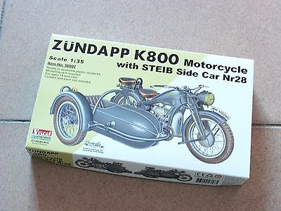 Vulcan 1//35 WW2 German Zundapp K800 Motorcycle with STEIB Side Car  #56007