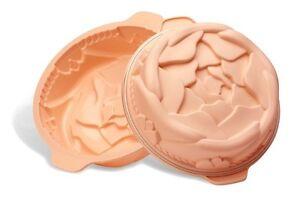 Stampo-torta-rosa-bassa-silicone-Silikomart-con-maniglie-dolci-SFT-253-Rotex