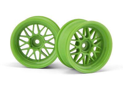 HPI Racing HRE C90 WHEEL 26mm GREEN (6mm OFFSET/2PCS) HPI106772