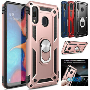 For-Samsung-Galaxy-A20-A10e-Case-Shockproof-Ring-Holder-Kickstand-Armor-Cover