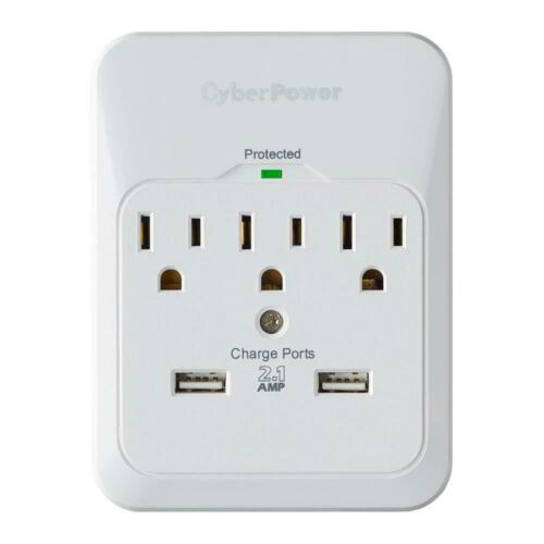 CyberPower 3-Outlet USB Wall Tap Surge Protector