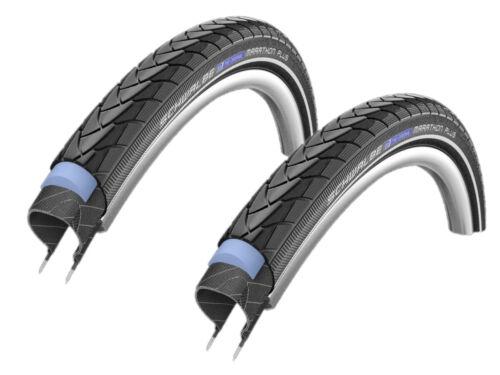 "28×1, 5/"" Set 2 X Schwalbe Marathon Plus Bike Tyres //// 40-622 -  show original title Details about  /Velo"